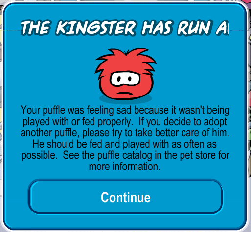 Puffle Run Away